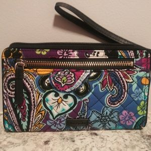 Disney Mickey Paisley celebration wristlet.